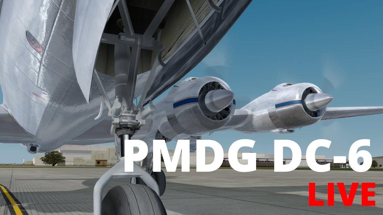PMDG - DC-6 Short Flights Live Stream - YouTube