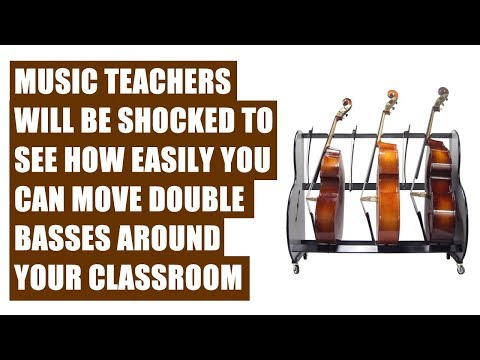 Double Bass Instrument Storage Carts For Music Classrooms
