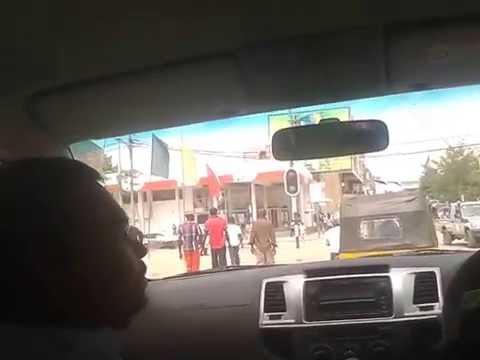 Driving around in Tete, Mozambique-2