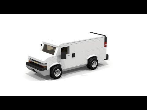 [LEGO MOC] Chevrolet Express 1500 Cargo Van Tutorial