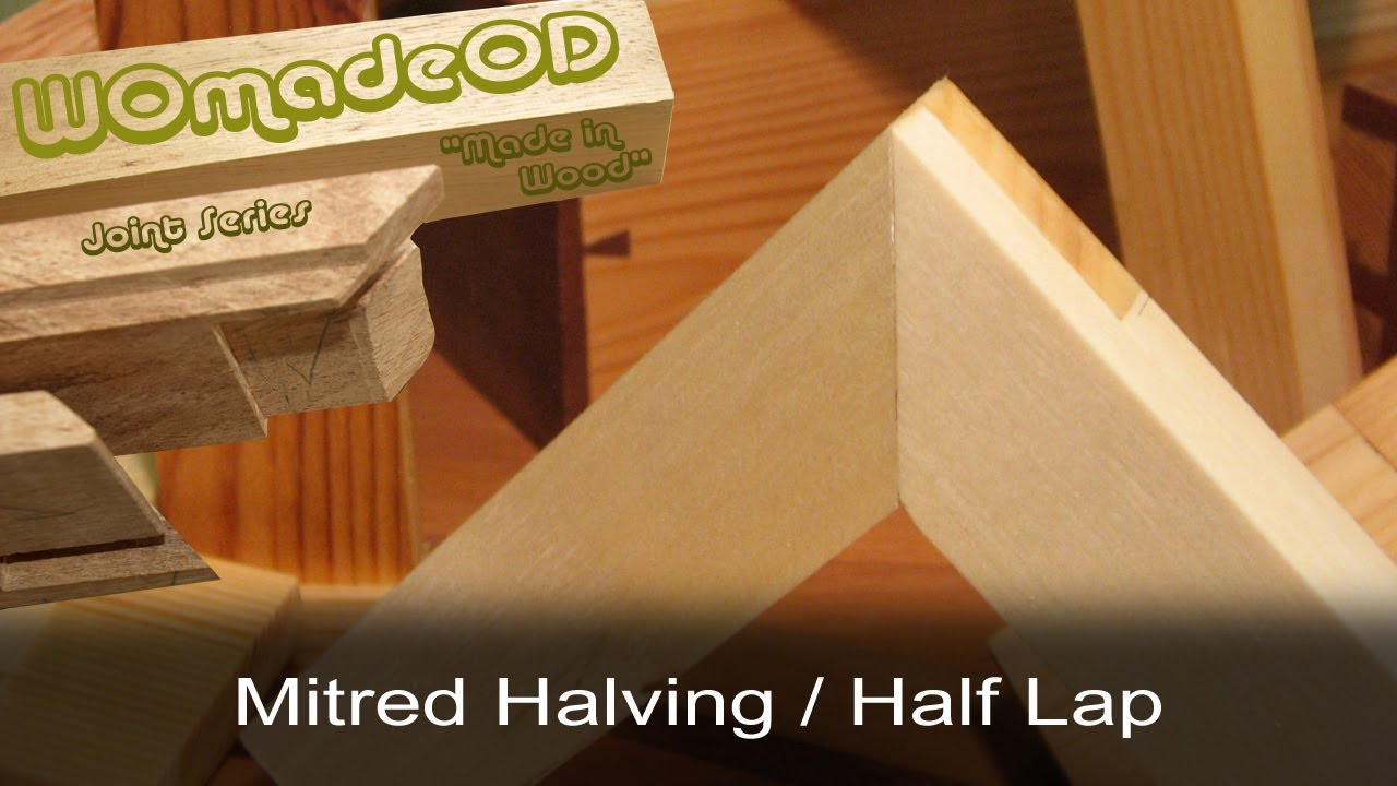 Mitred Halving Joint A K A Mitred Half Lap Lapped Mitre