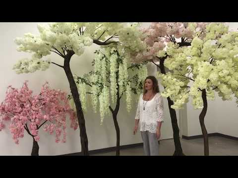 ShopWildThings Flowering & Large Artificial Trees