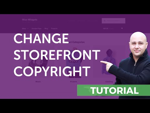 How-to Change The Footer Copyright In The Storefront WordPress Theme