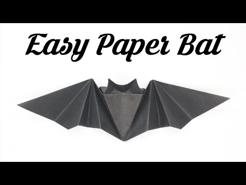 How to make Origami Halloween Bat by Tadashi Mori Easy Basic Simple Origami For Kids Crafts DIY