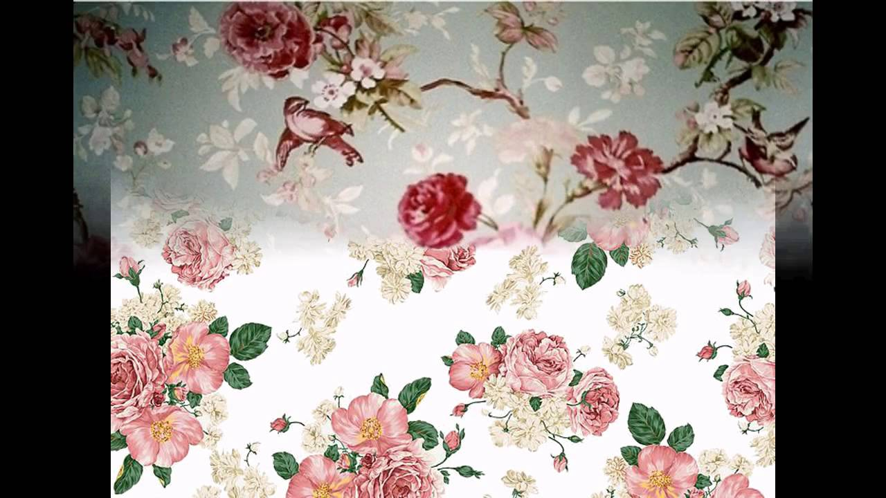 Vintage Style Floral Wallpaper Youtube