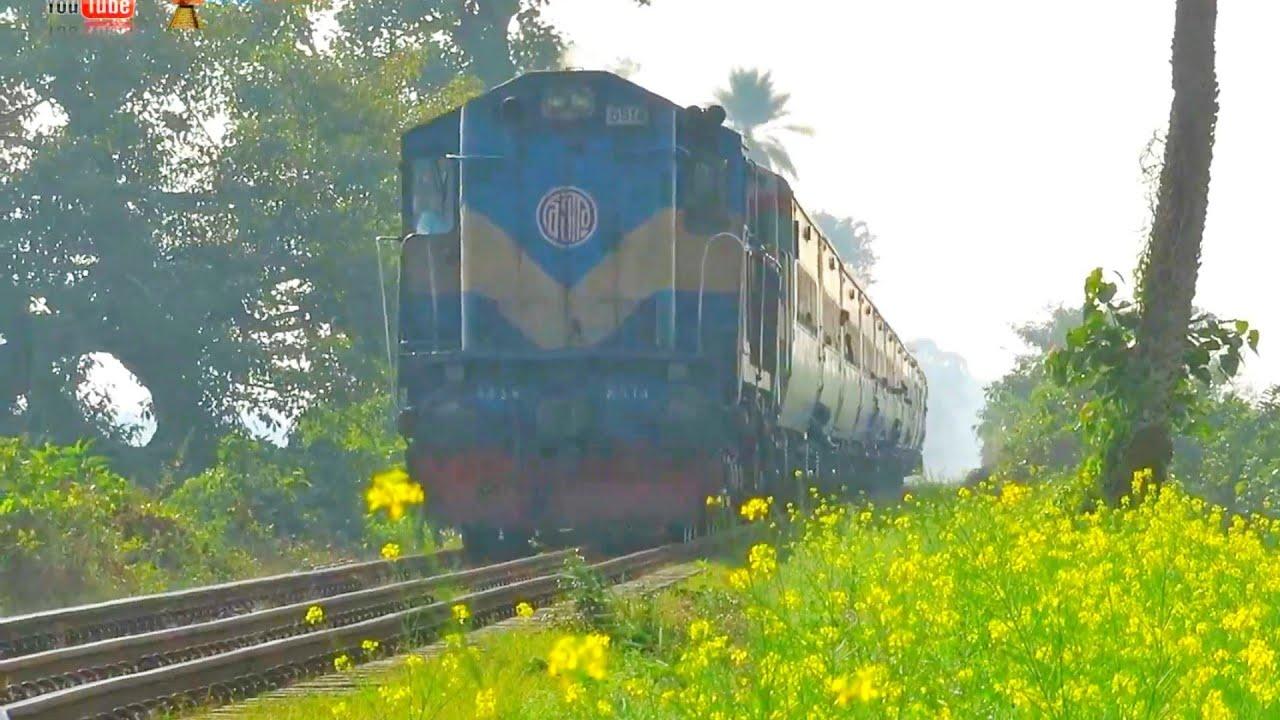 Drutajan Express passing beautiful Garden area || Bangladesh Railway