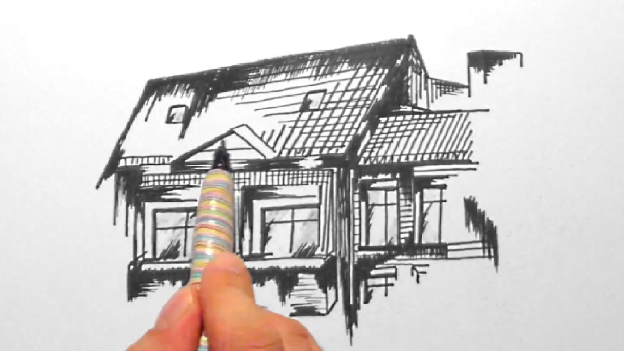 Skizze 5 haus mit balkon sketch 5 home with balconyhd youtube