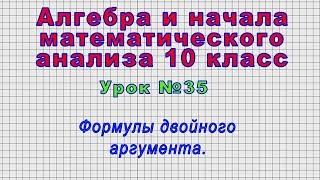 Алгебра 10 класс (Урок№35 - Формулы двойного аргумента.)