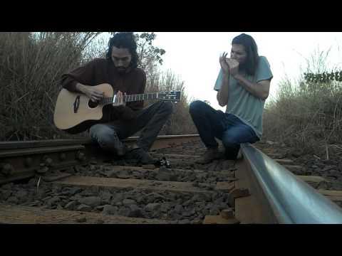 Improviso de blues - gaita e violão -Tiago Leão - Matheus Leão