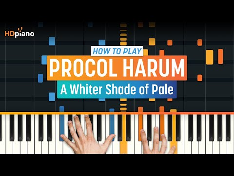 How To Play A Whiter Shade of Pale  Procol Harum  HDpiano Part 1 Piano Tutorial