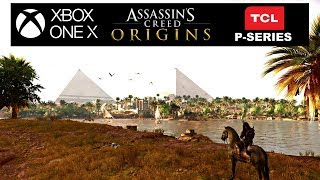 Assassins creed Origins Xbox one X TCL P-Series 4k HDR settings