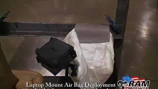 RAM Mounts   Laptop   Notebook Vehicle Mount Air Bag Deployment Test