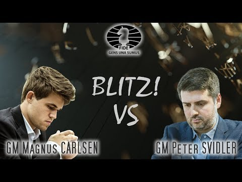 Magnus Carlsen Vs Peter Svidler. King Salman World Blitz Championships 2018