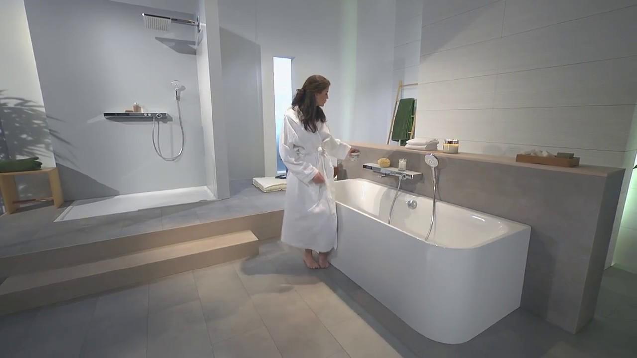 Facq - Hansgrohe - ShowerTablet 700 Select Bathtub - YouTube