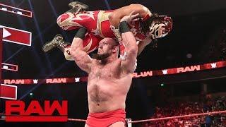 Lars Sullivan attacks Lucha House Party: Raw, June 3, 2019