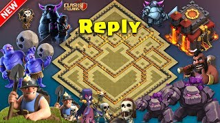 Best Th10 War Base 2017 Vs Anti Everything Anti Valkyrie Anti Bowler Anti 2 Star With Replays PROOF!