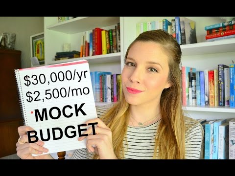 MOCK BUDGET -- $30,000/yr - $2,500/mo | How to Budget