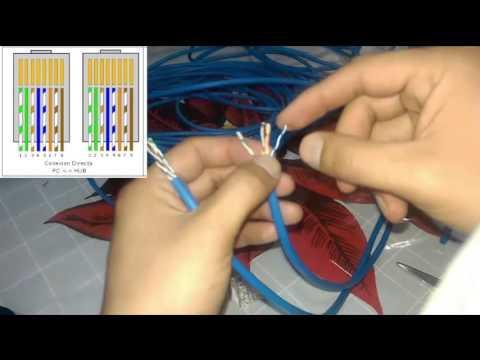 Como ponchar un cable UTP   Hacer cable de red paso a paso