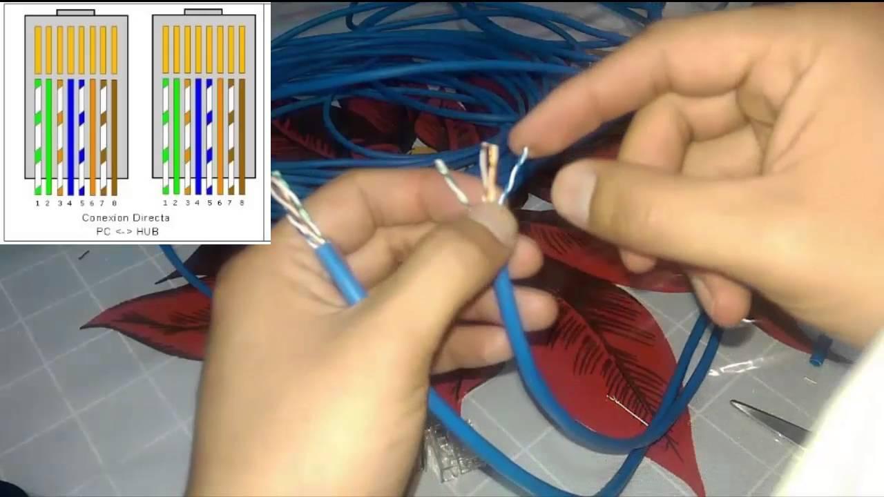 Como ponchar un cable utp hacer cable de red paso a paso - Como hacer un estor enrollable paso a paso ...