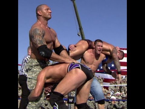 Tribute to the Troops 2008: Cena, Mysterio & Batista vs ...