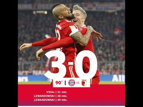 Bayern München vs Augsburg 3 - 0 | Resumen y Goles / All Goals & Highlights 18/11/2017