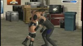 WWE SmackDown Vs.Raw 2009 Backstage Brawl Match Gameplay
