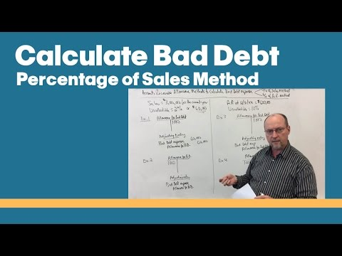 Calculate Bad Debt Expense - Percentage Of Sales Method