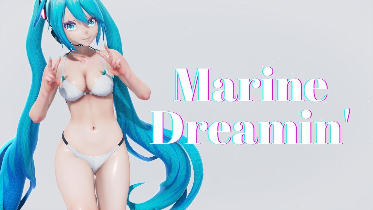 【MMD】Marine Dreamin' / Miku Bikini【Ultra Wide - 5120x2160】