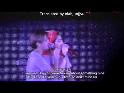 [ENG SUB] 141224 JYJ in Fukuoka - talk before nine