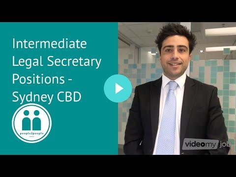 Intermediate Legal Secretary Positions - Sydney CBD