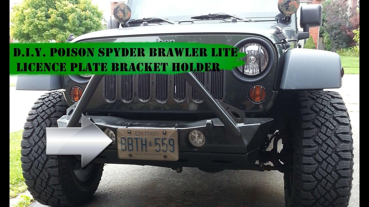 Poison Spyder Brawler Lite Licence Plate Bracket Holder Youtube