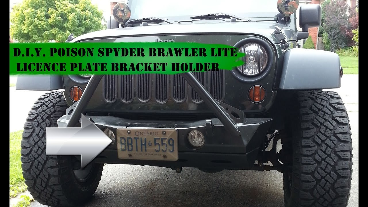 Wonderful Poison Spyder Brawler Lite Licence Plate Bracket Holder