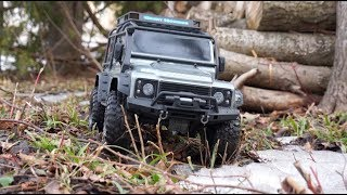 TRX4 Defender 110 V8 Trail Truck Scale Crawler Bush Tour  - Netcruzer RC