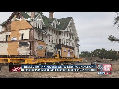 Belleview Inn moved onto new foundation