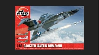 airfix 1 48 gloster javelin faw 9 9r scale model review