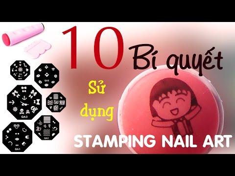 10 Bí quyết sử dụng bộ in vẽ móng tay Stamping Nail Art Kit - Ngọc Bube 0936340901