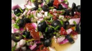 Салат из горбуши и каперсов