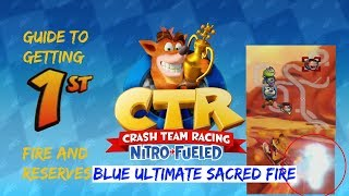 Crash Team Racing: Nitro Fueled Guide | Blue Ultimate Sacred Fire, turbo pads, & Reserves