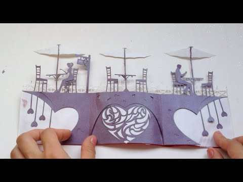 Love Story Card, Valentine Kirigami Tutorial | Free Pattern