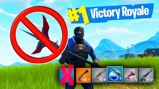 THE FORTNITE NO PICKAXE CHALLENGE! (Battle Royale)