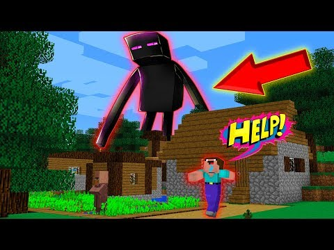 ENDERMAN ATTACKED THE VILLAGE!- Noob Vs Pro Vs Hacker Vs God In Minecraft / Animation