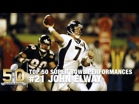 #21: John Elway Super Bowl XXXIII Highlights | Top 50 Super Bowl Performances