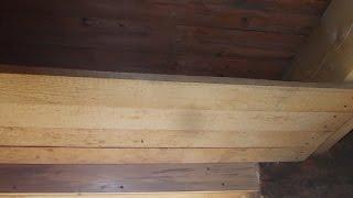 стройка дома. Черный потолок.Под утепление опилом. своими руками(Черный пол и потолок. Под утепление опилом делал одинаково., 2014-10-15T12:25:45.000Z)