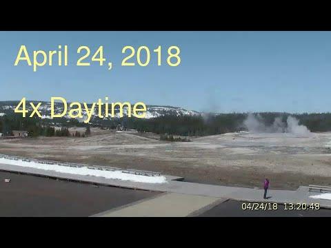 April 24, 2018 Upper Geyser Basin Daytime 4x Streaming Camera Captures