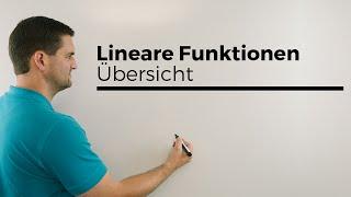 Lineare Funktionen, Übersicht mit fast allem;), Geraden   Mathe by Daniel Jung