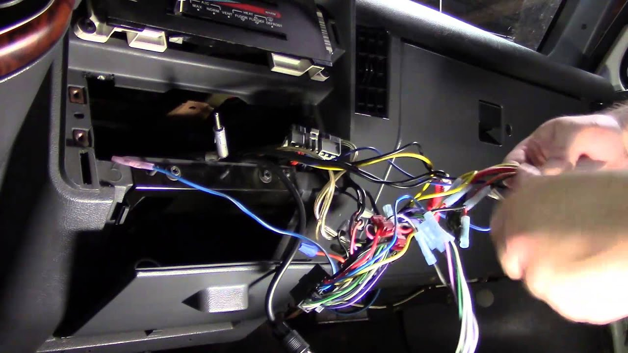 1989 Ford Bronco Stereo Change Out  YouTube
