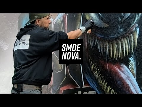 VENOM GRAFFITI WALL | realistic MARVEL character painting