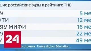 Смотреть видео Российских университетов стало больше в рейтинге вузов развивающихся стран - Россия 24 онлайн