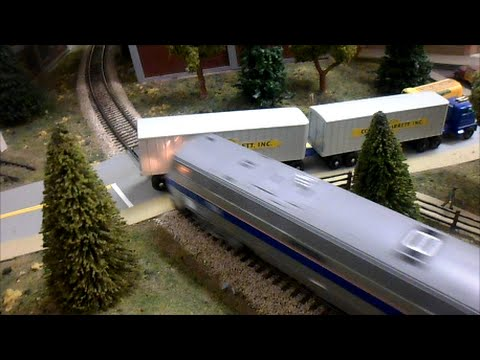 Thumbnail: HO Scale Amtrak and CSX Crash