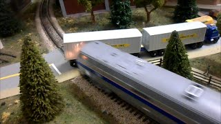 HO Scale Amtrak and CSX Crash